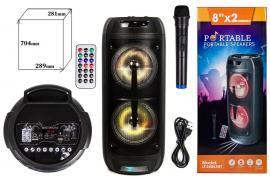 Колонка BIG LT-2806 XBTUSB/MP3/FM/BT/TWS (289*281*704 / беспроводной микрофон) Черный