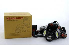 Налобный фонарь BL 862 T6+COB 3861 (120)