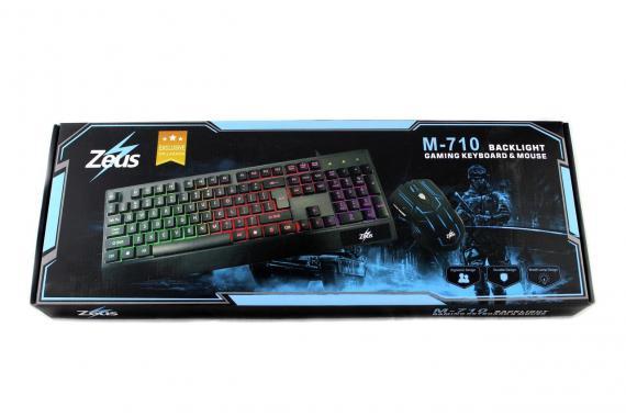 Клавиатура LED GAMING KEYBOARD+Mouse M 710 (AR 4958) (20)