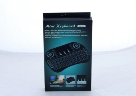 Клавиатура KEYBOARD wireless MWK08/i8 LED + touch с подсветкой (100)