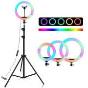 Кольцевая лампа MJ-26 RGB в ящ 40шт