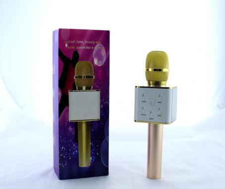Микрофон DM Karaoke Q7 GOLD (40) в уп. 40шт.