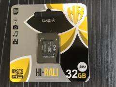 Карта пам'яти microSDHC (UHS-1) 32GB class 10 Hi-Rali (з адаптером)