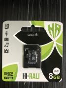 Карта пам'яти microSDHC (UHS-1) 8GB class 10 Hi-Rali (з адаптером)
