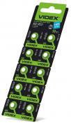 Батарейка VIDEX ALKALINE AG0 LR521 1.5V Цена за 10шт