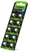 Батарейка VIDEX ALKALINE AG5 LR754 1.5V Цена за 10шт
