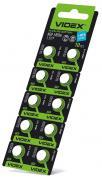 Батарейка VIDEX ALKALINE AG10 LR1130 1.5V Цена за 10шт
